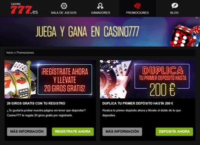 casino 777 promociones