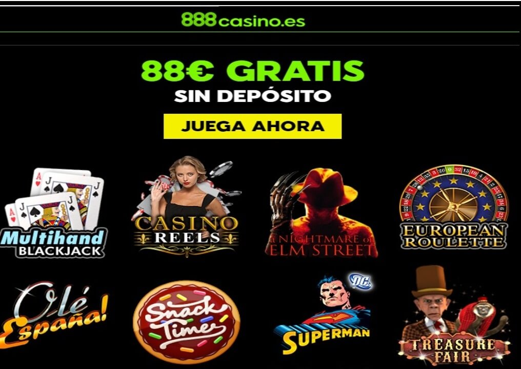 88 euros promocionales por registro sin depósito Casino 888