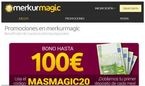 Merkurmagic otorga hasta 100 euros de bonificación