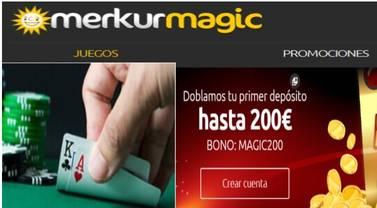 Duplicación del primer ingreso hasta por 200 euros en Merkurmagic