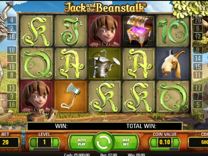 Tragaperras Jack and the Beanstalk iframe