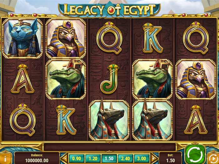 Tragaperras Legacy of Egypt iframe